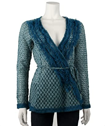 RYU Women's Ruffle Trim Cardigan at Amazon Women's Clothing store ...