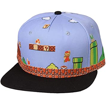 0dc5ca383419 Super Mario Bros. 8-bit Landscape Snapback Hat: Amazon.co.uk: Toys ...