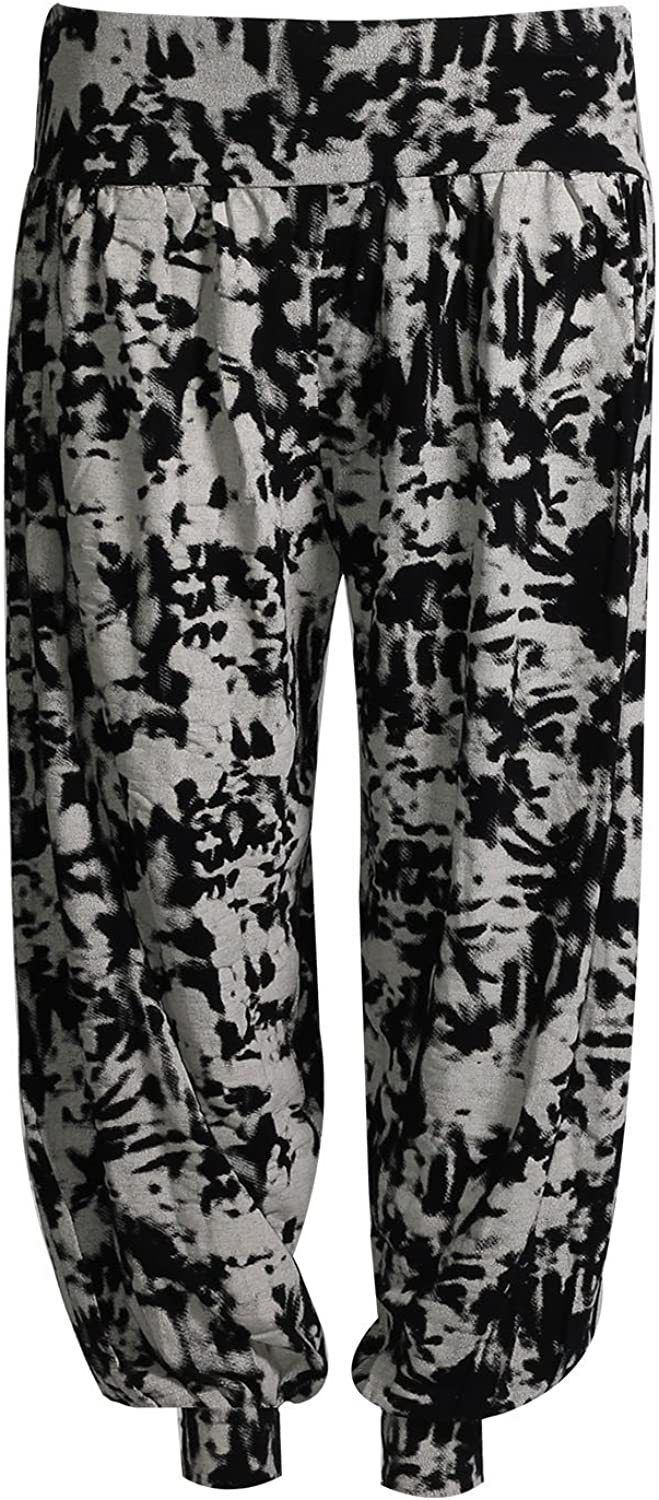 Forever Womens Snake Leopard and Alphabet Print Plus Size Hareem Trousers