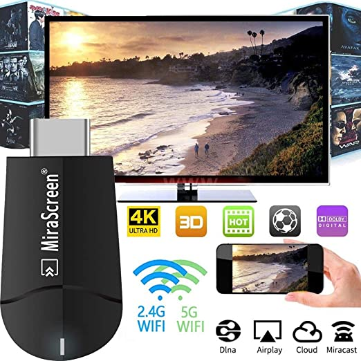 Dongle Wireless Display, Wi-Fi portátil adaptador de pantalla ...