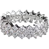 Pave CZ Eternity Band Ring