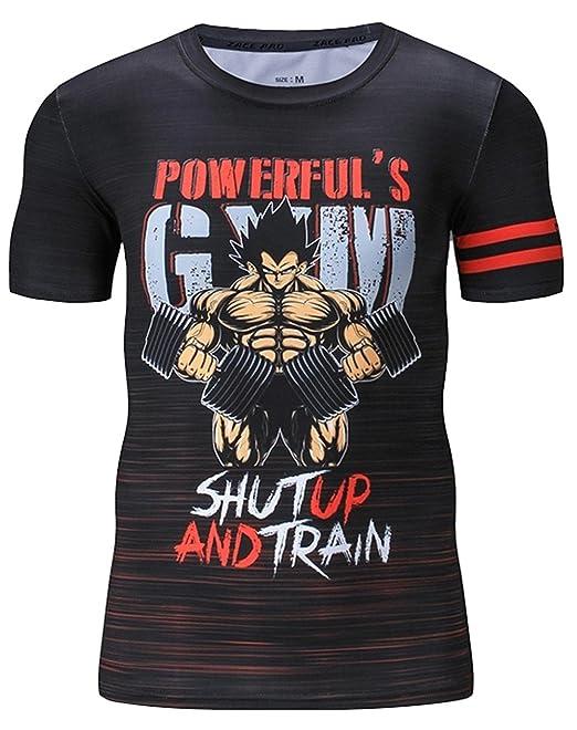 Camiseta Compresion Hombre, Camiseta Manga Corta Licra Deportiva, Cody (Powerful Gym Goku): Amazon.es: Ropa y accesorios