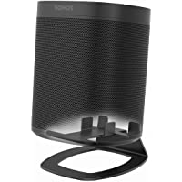 Monzlteck Desktop Stand for Sonos One,One SL, Compatible with Play1,Speaker Mount,Solid Metal (Black)