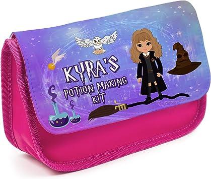Estuche personalizado Harry Potter Hogwarts KS158 para niñas, bonito estuche escolar, color rosa: Amazon.es: Oficina y papelería