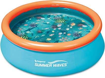 Amazon Com Summer Waves 8ft X 30in Kiddie Inflatable Above Ground Pool No Pump Included Sports Outdoors