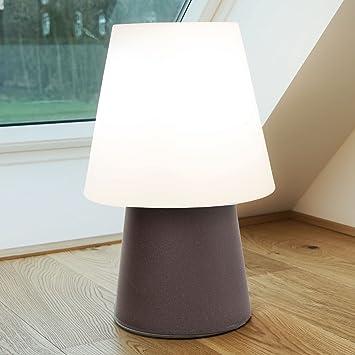 MIA Light Deko Boden Leuchte Aussen Ø390mm/Modern/Braun/Kunststoff/Lampe  Aussenlampe