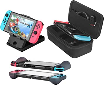 Bestico Kit de Accesorios 3 en 1 para Nintendo Switch, Incluye ...