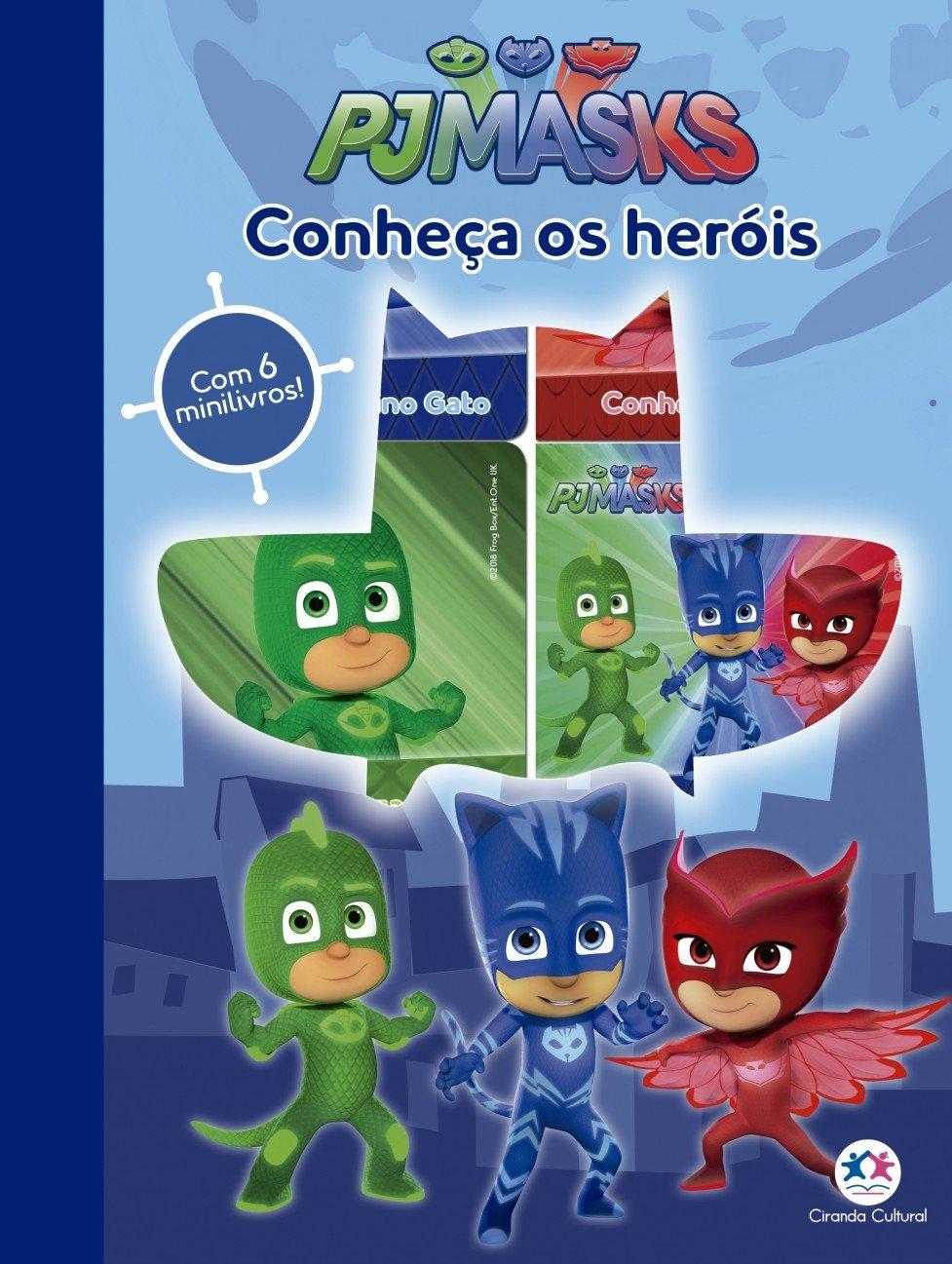 PJ Masks: Conheça os Heróis - Com 6 Minilivros! (Portuguese Brazilian) Board book – 2000
