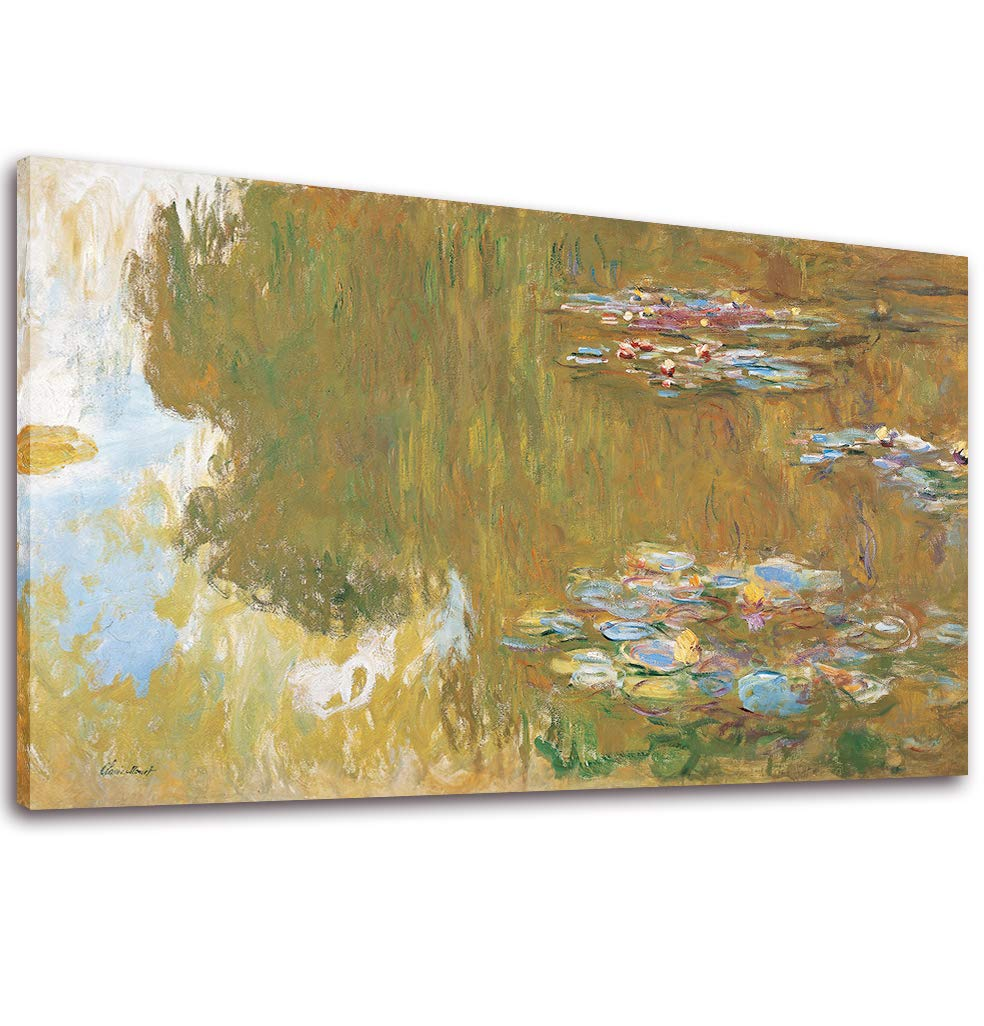 Canvas Wall Art Water Lilies by Claude Monet Painting Print - 20\