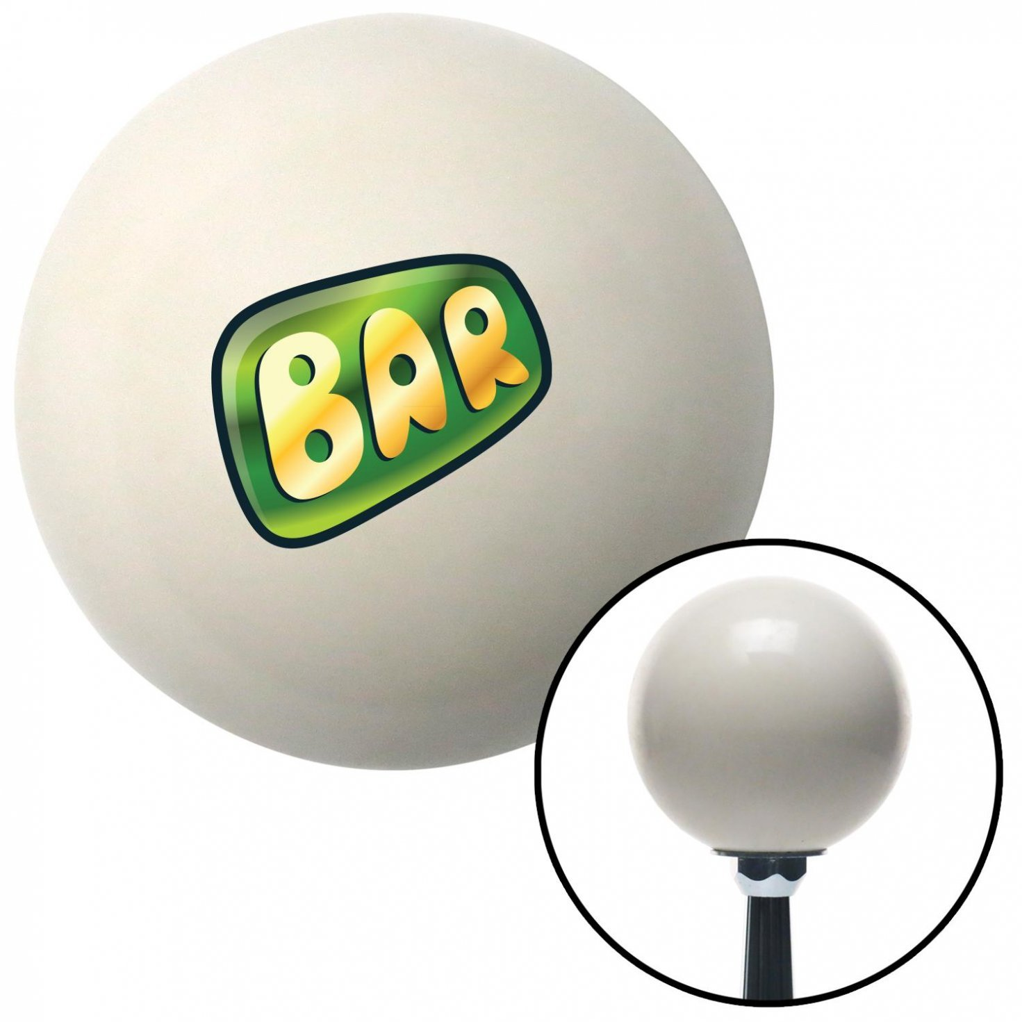 Bar Green American Shifter 42402 Ivory Shift Knob with 16mm x 1.5 Insert