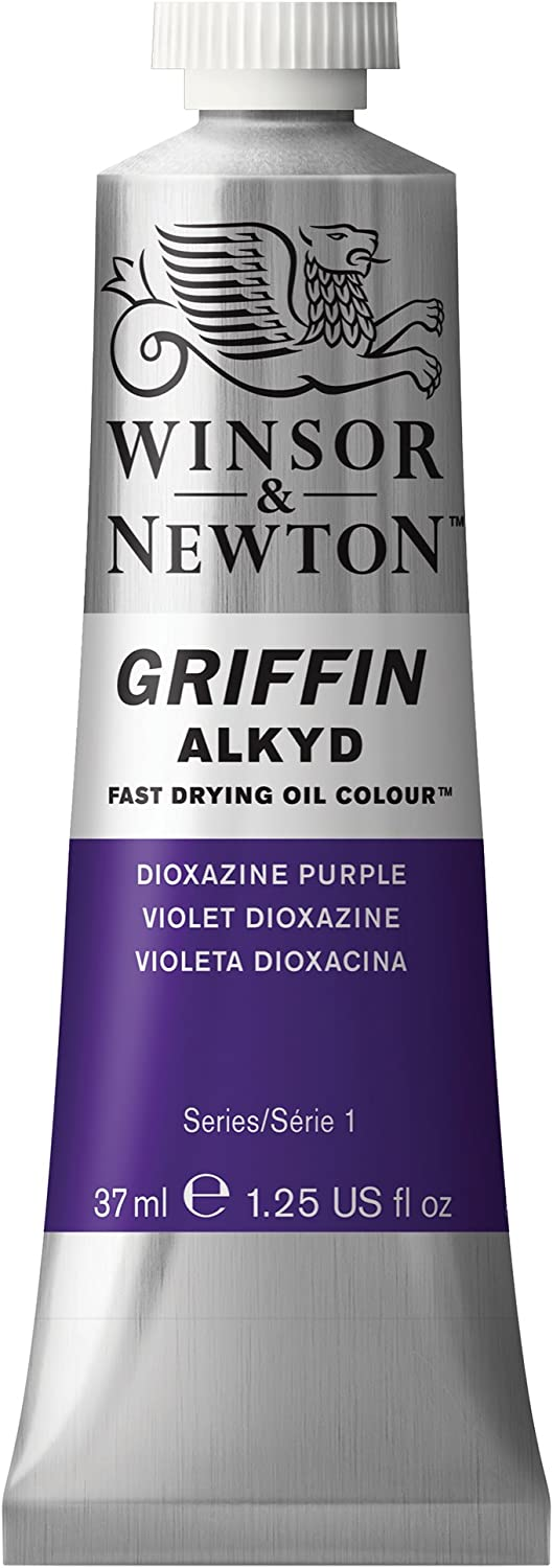 Winsor & Newton Griffin Alkyd Fast Drying Oil Colour Paint, 37ml tube, Dioxazine Purple