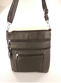 Briefcase Double Zipper Mens Handbag Size: 38829cm New Leather Mens Bag