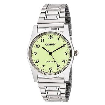 Cartney analógica (brilla en la oscuridad dial a prueba de agua reloj de pulsera para niño y hombre - CT223: Amazon.es: Relojes