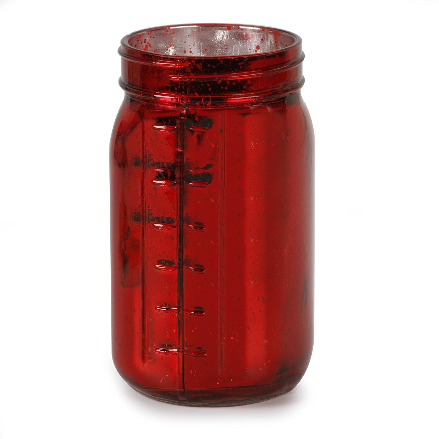 Craft Floral Mason Jar - Red Mercury Glass, 3.5'' x 6.5'' (12 Jars) by ArtVerse