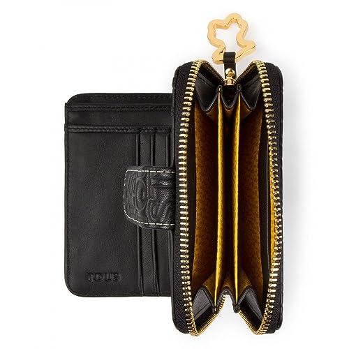 Tous Andrea Logo Negro, Monedero para Mujer, 13x11x2.5 cm (W x H x L): Amazon.es: Zapatos y complementos