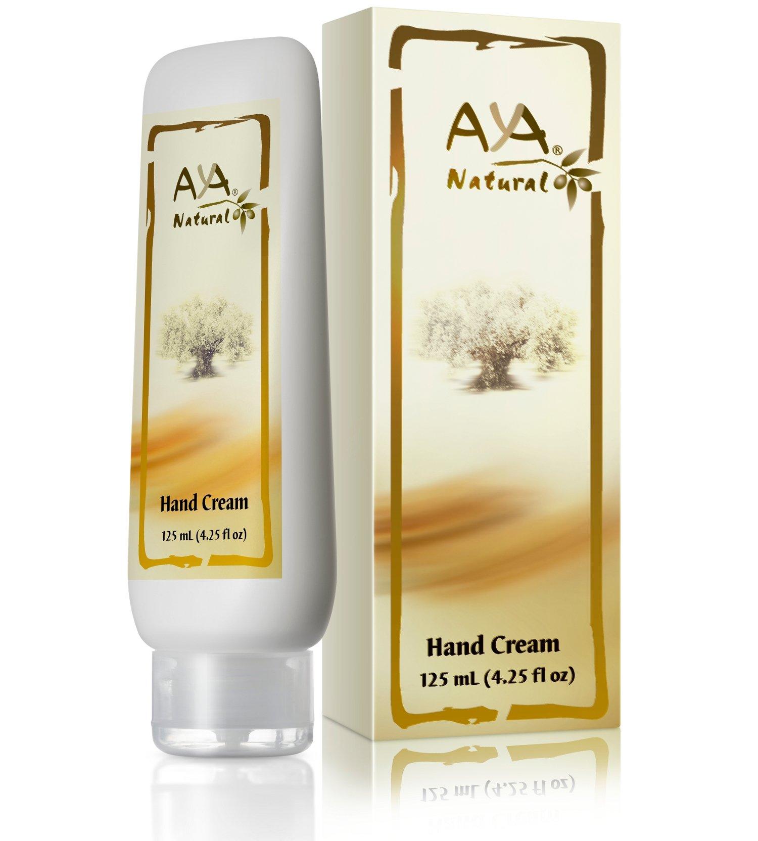 Natural Hand Cream Moisturizing Lotion - Vegan Advanced Non Greasy Dry Cracked Skin Moisturizer for Men & Women - Shea, Olive, Jojoba, Tea Tree & Lemon Oils Blend