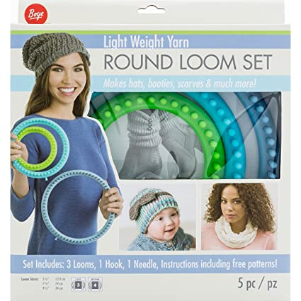 Amazon Boye Artsi2 Boy3702102001 Loom Round Set Light Weight Yarn