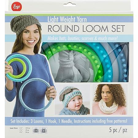 Boye Round Loom Set For Light Weight Yarn Multi Colour Amazon