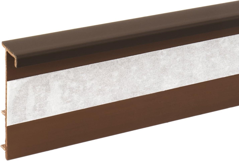 2,5m TEPPICHLEISTEN 50mm DUNKEL BRAUN Kettelleisten aus Kunststoff Fussbodenleiste Laminat Dekore Parkett Scheuerleiste