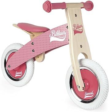 Janod - Little Bikloon Mi Primera Bicicleta sin Pedales, Madera, Rosa (J03259): Amazon.es: Juguetes y juegos