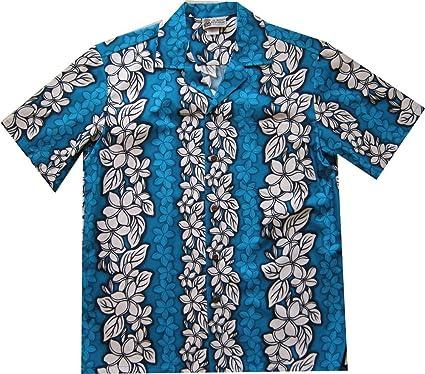 792ea6aa Floral Flowers Leis Panel Hawaiian Shirt at Amazon Men's Clothing store: