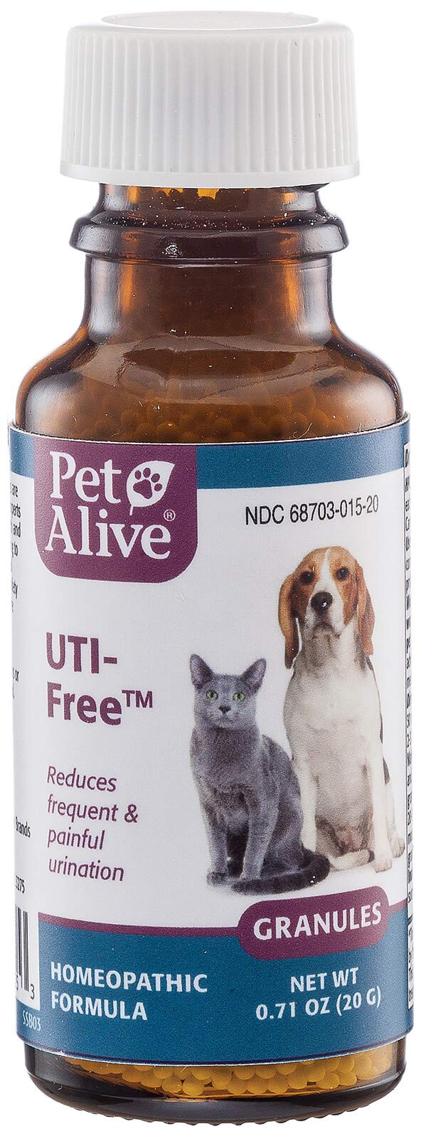 PetAlive UTI-Free for Pet Bladder and Urinary Tract Health (20g) by PetAlive