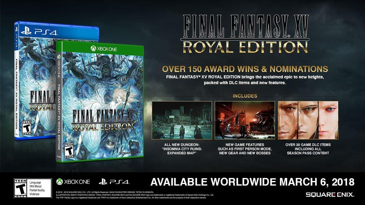 Amazon com: Final Fantasy XV Royal Edition - PlayStation 4