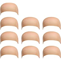 10 Pack Dreamlover Nylon Wig Caps, Skin Color Stretchy Close End Stocking Wig Caps, Each Paper Board Contains 2 Wig Caps (Beige)