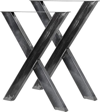 Bastidores para mesa 72x60 cm Acero lacado claro Caballetes Perfil ...
