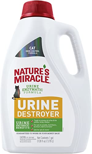 Nature's Miracle Urine Destroyer for Cats, Light Fresh Scent, Tough on Strong Cat Urine and the Yellow Sticky Residue