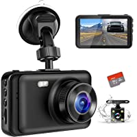 "Dash Camera for Cars, YOCHOS 1080P Front and Rear Dual Dash Cam, 3"" LCD Screen 170° Wide Angle Dash Cam with Night Vision WDR G-Sensor Parking Monitor Loop Recording Motion Detection.(SD Card Include)"