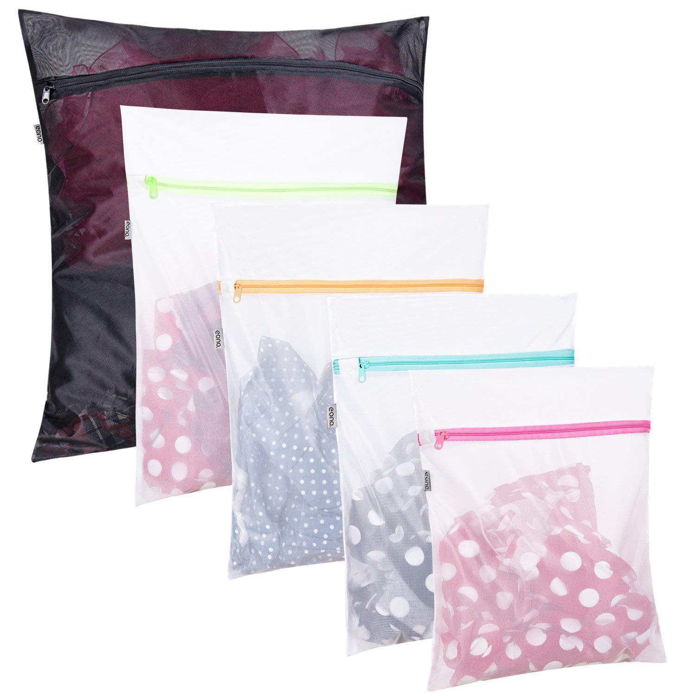Reusable Mesh Laundry Bags Storage Washing Machine Wash Bags Reusable Durable UK