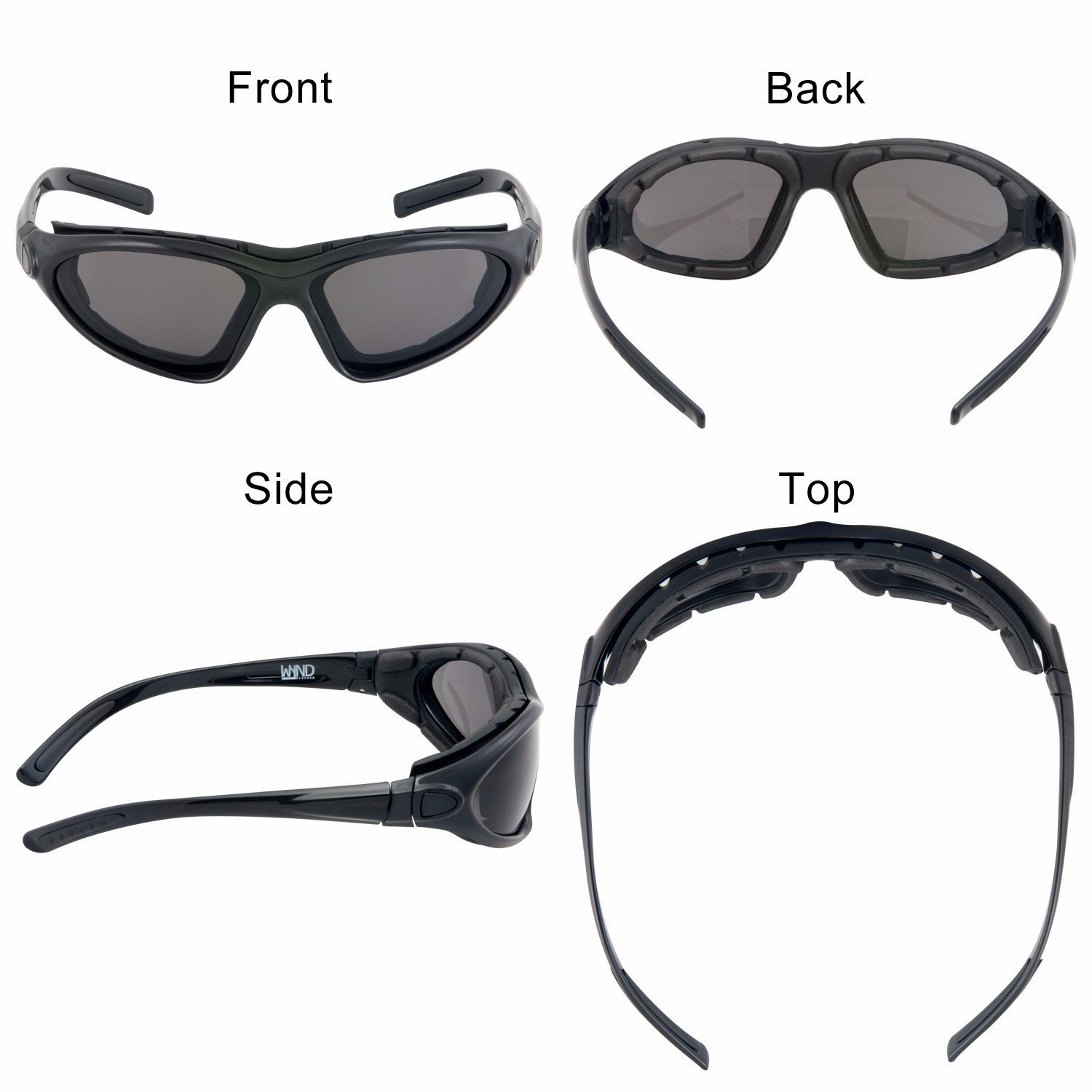 b4a5c34a8f2 WYND Blocker Vert Motorcycle   Boating Sports Wrap Around Polarized  Sunglasses (Black   Smoke Lens)  Amazon.in  Clothing   Accessories