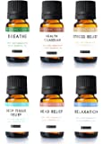 Aromatherapy Essential Oil Blend (Set of 6) by Kate Blanc. Pure Therapeutic Grade Oils 10 ml Blends Include Breathe, Health Guardian, Stress Relief, Deep Tissue, Head Relief, Relaxation