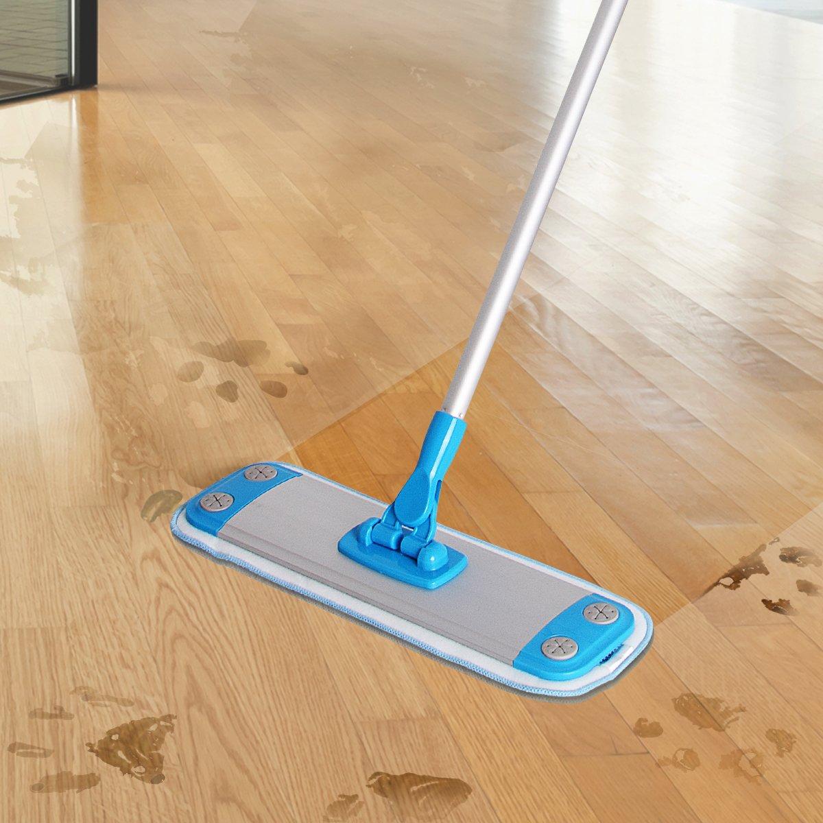 Dust mop for wood floors - Siga Aluminum Microfiber Floor Mop Size 40 X 12cm 1 Free Microfiber Refill Included Aluminum Mop Frame With Aluminum Telescopic Pole Home Kitchen