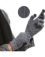 手袋 スマートフォン操作対応 毛糸グローブ 滑り止め 防寒 メンズ レディース