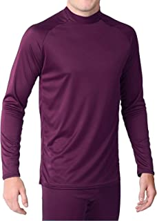 product image for WSI Microtech Form Fit Long Sleeve Shirt, Maroon, Youth Medium