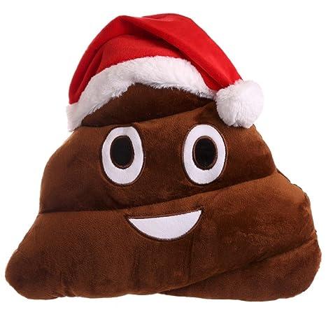 GiftRush Gorro de Navidad Caca emotivo cojín Cojines Son una ...
