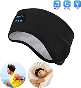 Lavince Sleep Headphones Bluetooth Sports Headband, Wireless Sports Headband Headphones with Ultra-Thin HD Stereo Speakers Perfect for Workout,Jogging,Yoga,Insomnia,Side Sleepers,Air Travel,Meditation