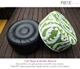 FBTS Prime Outdoor Inflatable Ottoman Green Round