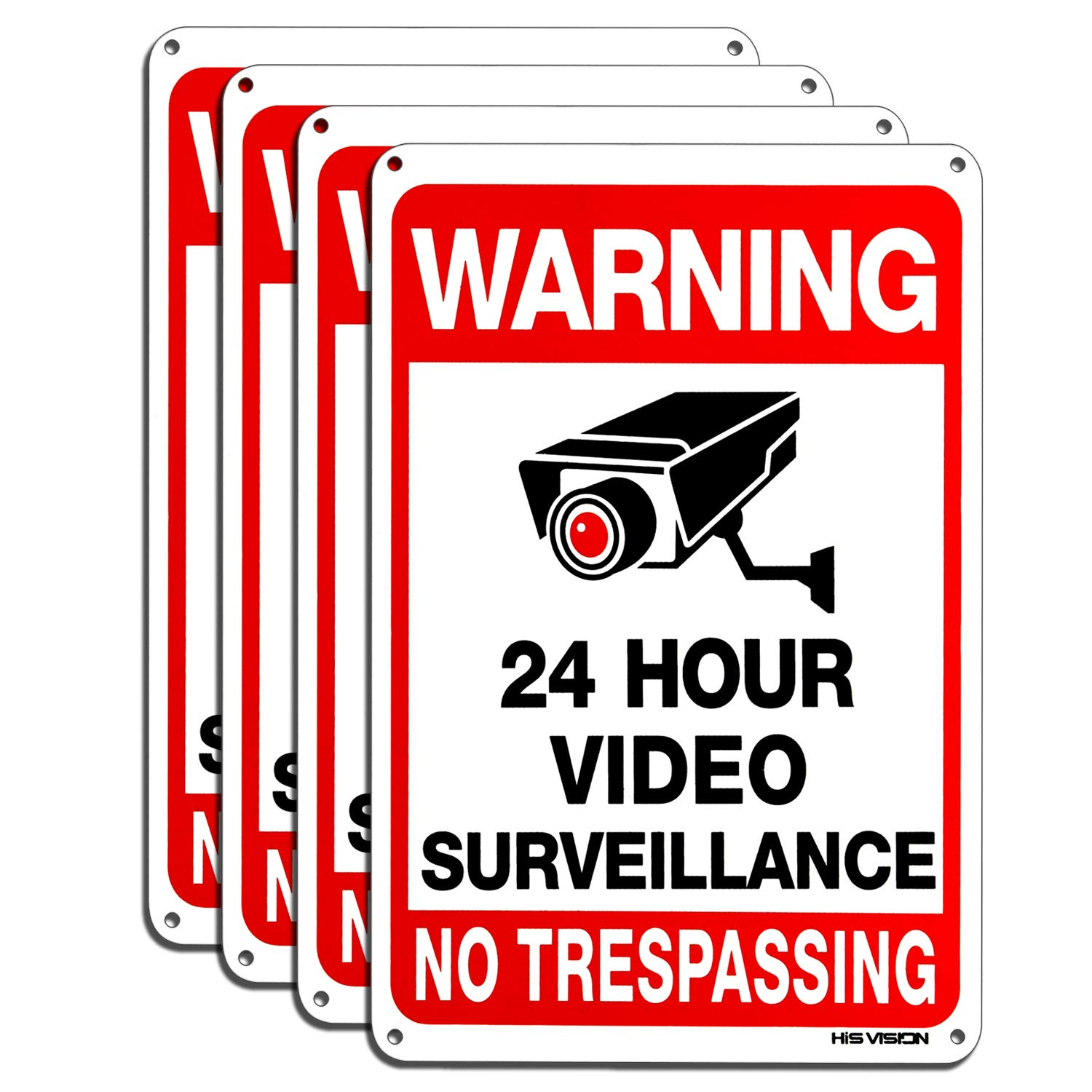 SAFETY SIGNS SURVEILLANCE SIGN SECURITY CCTV CAMERA VIDEO LASER ENGRAVED