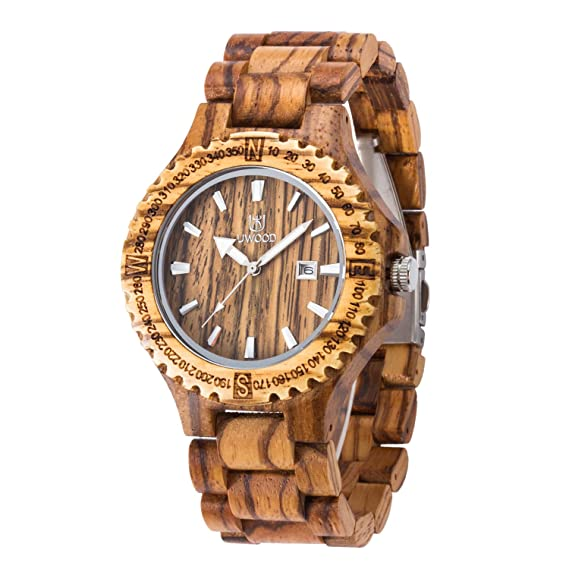Reloj de pulsera de cuarzo analógico, reloj de pulsera MUJUZE Light vintage para hombre (