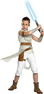 Rubie's Star Wars: The Rise of Skywalker Child's Deluxe Rey Costume, Small