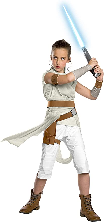 Amazon Com Rubie S Star Wars The Rise Of Skywalker Child S Deluxe Rey Costume Small Toys Games