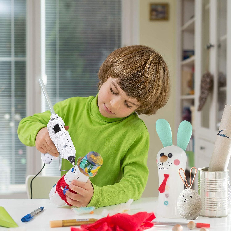 Multicolore con motivi floreali farfalle e Pixel Pistola per colla a caldo per bambini