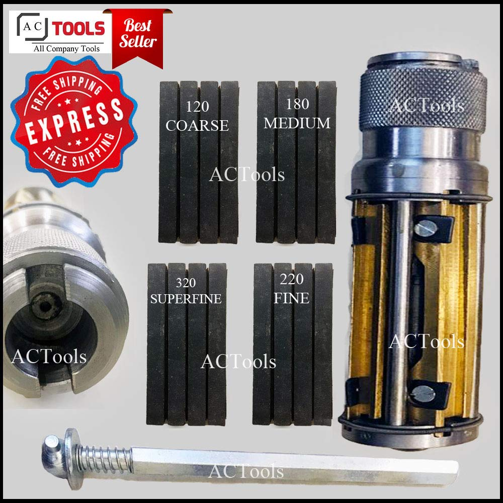 ACTOOLS Engine Cylinder Hone Kit 50mm to 75mm Honing Machine + 16 Honing Stones 4'' x 3/8'' x 3/8'' +Free Express Shipping