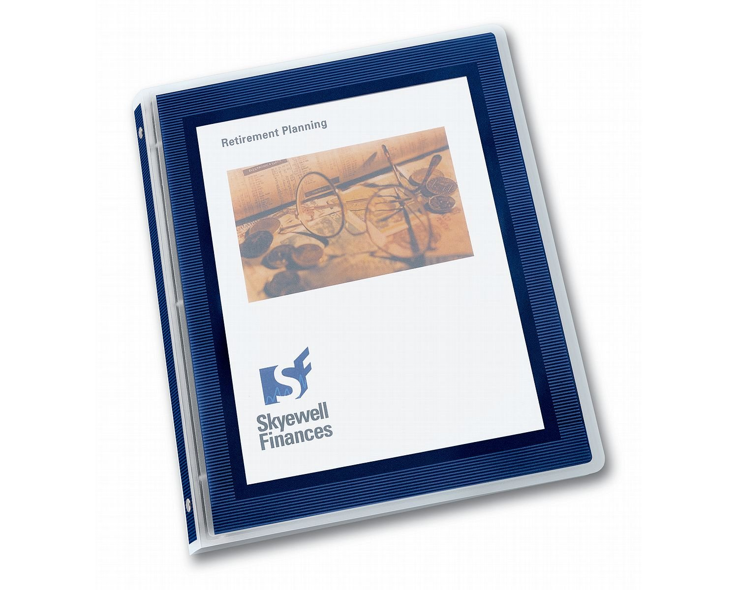 Avery Flexi-View Binders with 1.5-Inch Round Ring, Holds 8.5 x 11 Inches Paper, Navy Blue (17638)