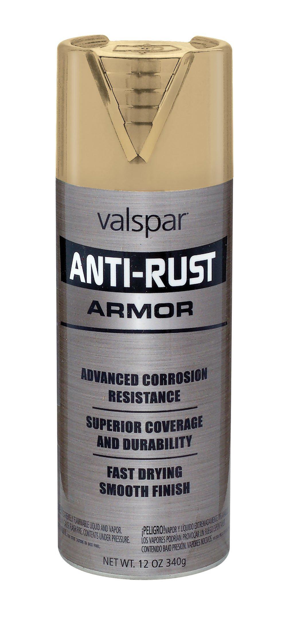 Valspar 21930 Metallic Gold Anti-Rust Armor Spray, 12 oz