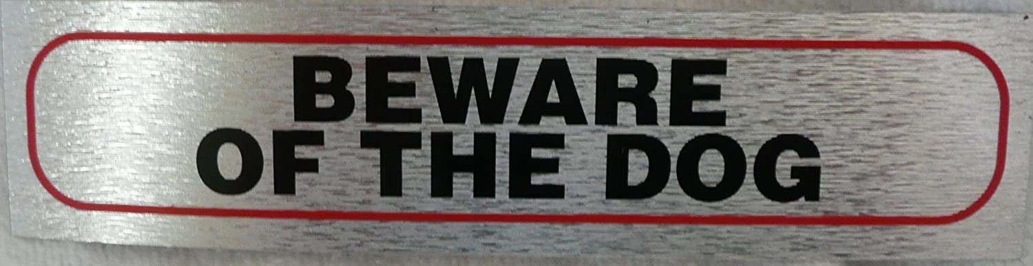 eCobbler Stick on Sign For Dog Owners 17x4cm- Beware Of The Dog