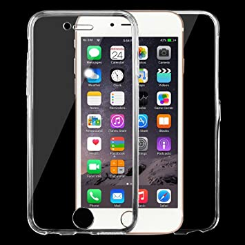 pretty nice 55e3b f9a2e Fone-Stuff iPhone 6S 6 Plus Case, 360-Degree Protection Front and Back Full  Body Coverage Case, Transparent Protective Shockproof Hard Back, Super ...